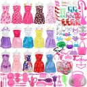 SOTOGO 106 Pieces Doll Clothes Set ドール ドレス Include 15 Pieces Clothes Party Grown Outfits and 90 Pieces D…