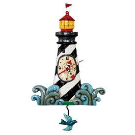灯台 ライトハウス アレン デザイン 振り子時計 Allen Designs Augie's Lighthouse Pendulum Clock 掛け時計 P1854 ミシェルアレン ミシェル・アレン アレン・デザイン ALLEN DESIGNS 時計 送料無料 【並行輸入品】