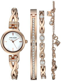 アンクライン Anne Klein 女性用 腕時計 レディース ウォッチ パール AK/3082RGST 女性らしいデザイン かわいい 送料無料 【並行輸入品】