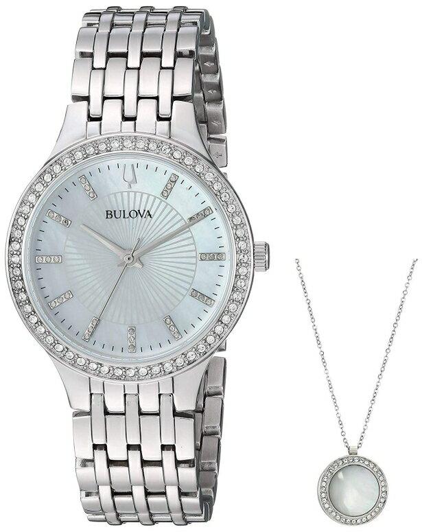 ブローバ Bulova 女性用 腕時計 レディース ウォッチ パール 96X146 送料無料 【並行輸入品】