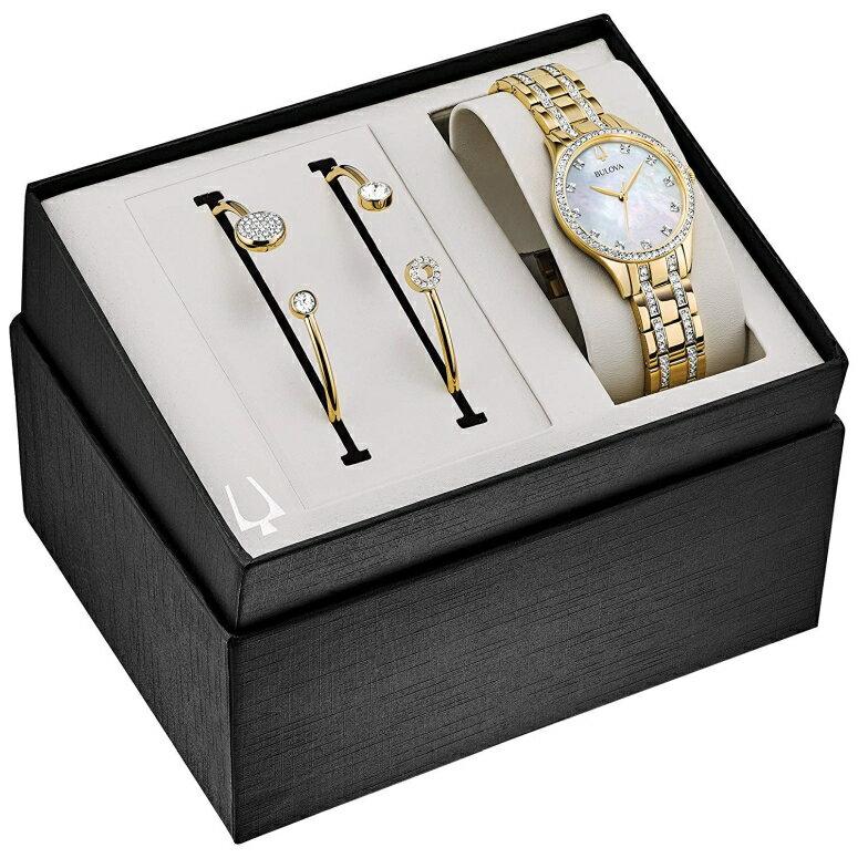 ブローバ Bulova 女性用 腕時計 レディース ウォッチ パール 98X119 送料無料 【並行輸入品】