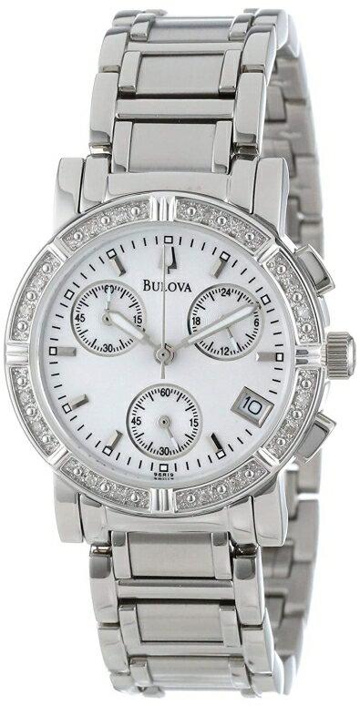 ブローバ Bulova 女性用 腕時計 レディース ウォッチ クロノグラフ パール 96R19 送料無料 【並行輸入品】