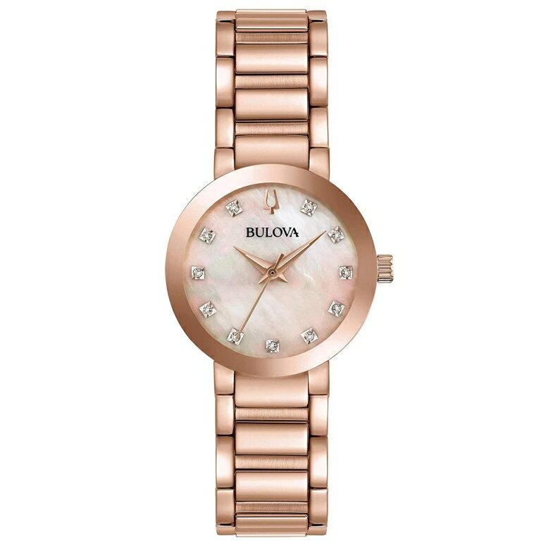 ブローバ Bulova 女性用 腕時計 レディース ウォッチ ピンク パール 97P132 送料無料 【並行輸入品】