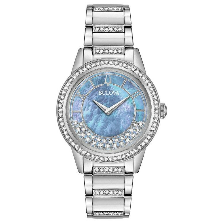 ブローバ Bulova 女性用 腕時計 レディース ウォッチ ブルー パール 96L260 送料無料 【並行輸入品】