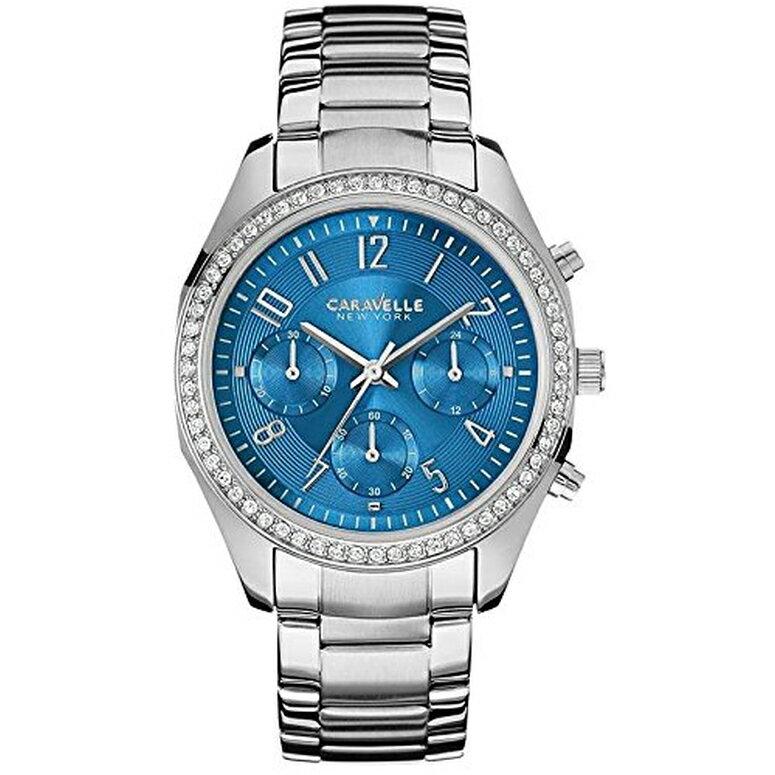 ブローバ Bulova 女性用 腕時計 レディース ウォッチ クロノグラフ ブルー 43L182 送料無料 【並行輸入品】