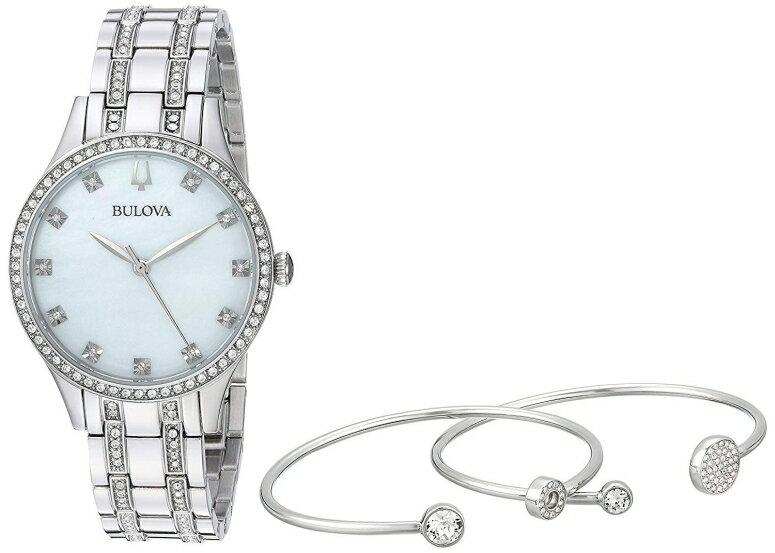 ブローバ Bulova 女性用 腕時計 レディース ウォッチ パール 96X145 送料無料 【並行輸入品】
