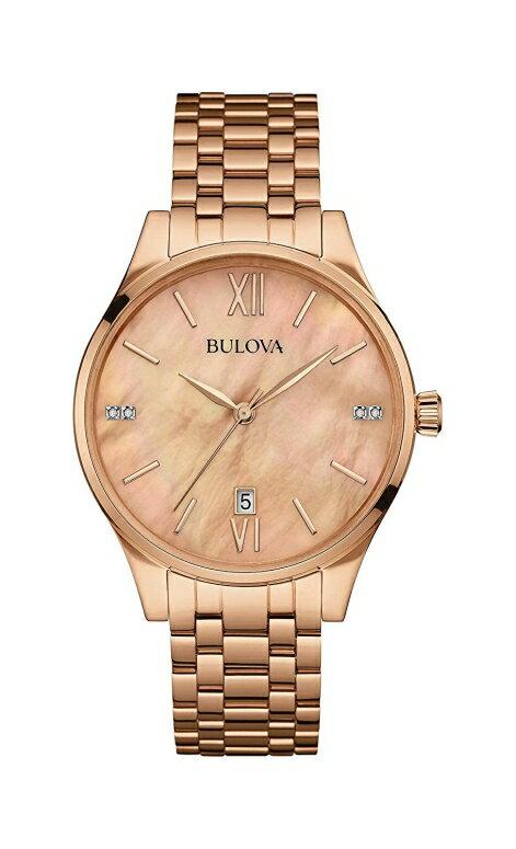 ブローバ Bulova 女性用 腕時計 レディース ウォッチ ゴールド 97P113 送料無料 【並行輸入品】