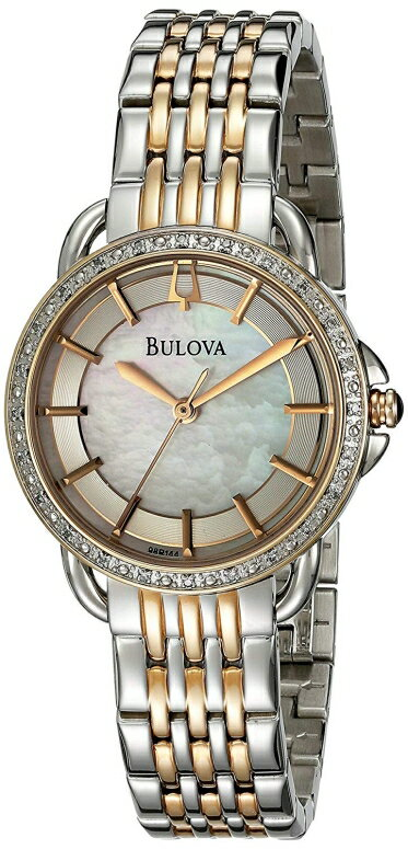 ブローバ Bulova 女性用 腕時計 レディース ウォッチ パール 98R144 送料無料 【並行輸入品】