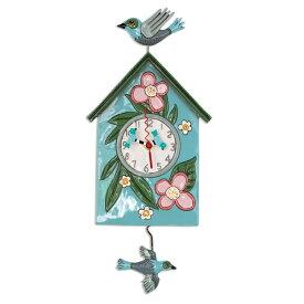 ブレストネストハウス バード 鳥 アレン デザイン 振り子時計 Allen Designs Blessed Nest Bird House Pendulum Clock 掛け時計 P1994 ミシェルアレン ミシェル・アレン アレン・デザイン ALLEN DESIGNS 時計 送料無料 【並行輸入品】