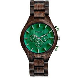 トゥルーウッドtruwoodウッドウォッチ木製腕時計男性用腕時計メンズウォッチグリーン5060412383004送料無料