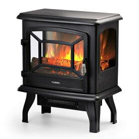 """電気暖炉 フェイク暖炉 ストーブ TURBRO Suburbs 20"""" 1400W Electric Fireplace Stove, CSA Certified Freestanding Heater with Realistic Log Flame Effect, Black 送料無料 【並行輸入品】"""