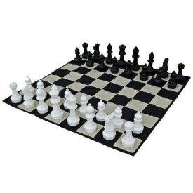 """ジャンボチェス セット 特大 ビッグ 約30cm ギフト MegaChess 12 Inch Tall Chess Set and Chess Mat - Black and White - Plastic (King is 12"""" Tall) 送料無料 【並行輸入品】"""