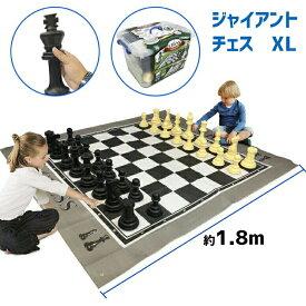 """ジャンボチェスセット 屋内屋外兼用 駒の高さ15〜25cm マット幅約1.5x1.8m ビッグ ジャイアント チェス EasyGoProducts EGP-TOY-018 EasyGo Giant X 5 Feet Mat Chess Indoor Outdoor Large Yard Lawn Family Game Pieces Range from 6""""-10"""" Tall 送料無料 【並行輸入品】"""