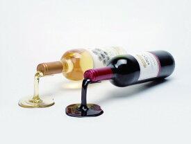 ワインホルダー 赤ワイン・白ワイン用 卓上ワインラック Beyond123 IS039RW Spilled Wine Bottle Holder, Red and White 送料無料 【並行輸入品】