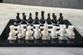 大理石 チェスセット Radicaln 15 Inches Handmade Black and White Large Weighted Marble Full Chess Game Set Staunton and Ambassador Style Tournament Chess Sets -Non Wooden Metal -Non Magnetic -No Digital Dgt -Not Chinese 送料無料 【並行輸入品】