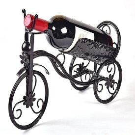 ワインホルダー 自転車 卓上ワインラック CdyBox Wrought Iron Wine Holder/Rack Bike Shape Tricycle Art Home Decor (Black) 送料無料 【並行輸入品】