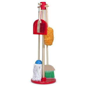 おもちゃ お掃除セット モップ Melissa & Doug, Let's Play House! Dust! Sweep! Mop! The Original Pretend Play Cleaning Set (6 Pieces, Broom, Mop, Duster, and Organizing Stand, Great Gift for Girls and Boys - Kids Toy) 【並行輸入品】