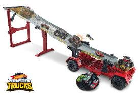 ホットウィール モンスタートラック ダウンヒルレース プレイセット Hot Wheels Monster Trucks Downhill Race & Go Playset 送料無料 【並行輸入品】