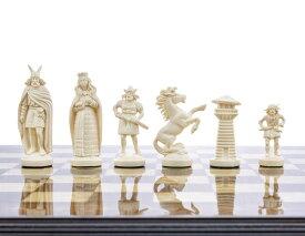 """バイキング チェスセット ボードなし 3 3/4"""" Black & White Viking Plastic Chess Pieces - Felted, Standard Size 送料無料 【並行輸入品】"""