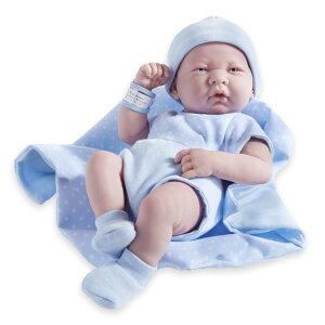 臨床教育 リアル ベビードール 新生児人形 男の子 ブルー 約35.5cm 乳児 かわいい ベビー人形 ビニール製 JC Toys Berenguer Boutique La Newborn 14-Inch Life-Like Real Boy Doll 9 Piece Gift Set, Blue 【並行輸入品】