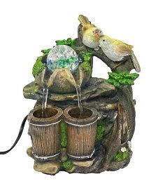 卓上 噴水 滝のオブジェ テーブルトップファウンテン インテリア噴水 ImagiWonder Tabletop Fountain Bird Pair Near Water Buckets 送料無料 【並行輸入品】