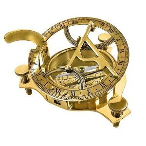 """真鍮製 日時計 コンパス 真ちゅう サンダイアル THORINSTRUMENTS (with device) 4.5"""" Sundial Compass - Solid Brass Sun Dial 【並行輸入品】"""