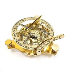 """真鍮製 日時計 コンパス 真ちゅう サンダイアル RKS Collections 4"""" Sundial Compass - Solid Brass Sun Dial west London 【並行輸入品】"""