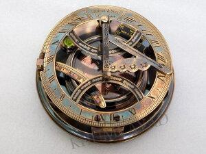 真鍮製 日時計 コンパス 真ちゅう サンダイアル Meridian Nauticals KHUMYAYD Brass Sundial Compass Hand Made Fully Functional Sundial Compass Big Sundial Compass 【並行輸入品】