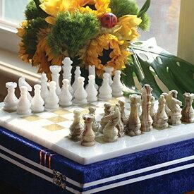 チェスセット RADICALn 15 Inches Large Handmade White and Green Onyx Weighted Full Chess Game Set Staunton and Ambassador Gift Style Marble Tournament Chess Sets for Adults -Non Wooden -Non Magnetic -Not backgammon 送料無料 【並行輸入品】
