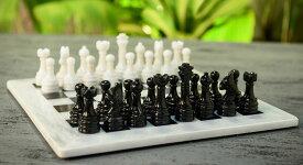 チェスセット RADICALn 15 Inches Handmade White and Black Weighted Full Chess Game Set with Storage Box - Staunton and Ambassador Style Marble Tournament Chess Sets for Adults 送料無料 【並行輸入品】