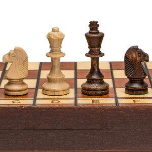 チェスセット Wegiel Handmade Jowisz Professional Tournament Chess Set - Wooden 16 Inch Folding Board With Felt Base & Hand Carved Chess Pieces - Compartment Inside The Board To Store Each Piece 【並行輸入品】