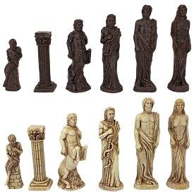 チェスセット Design Toscano WU05560 Gods of Greek Mythology Chess Set: Pieces Only,Two Tone Stone 送料無料 【並行輸入品】