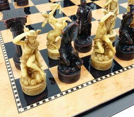 チェスセット Greek Gods Mythology Set of Chess Men Pieces Hand Painted 送料無料 【並行輸入品】