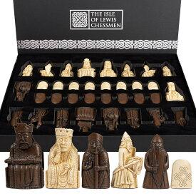 チェスセット The Isle of Lewis Chessmen - Regency Chess Official Lewis Chess Set - 4 Queen Edition 送料無料 【並行輸入品】