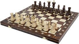 チェスセット Handmade Chess Set European Ambassador with 21 Inch Board and Hand Carved Chess Pieces WEGIEL 送料無料 【並行輸入品】