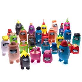 アモングアス フィギュア Hot Game for Allamong in Us PVC Action Figures Model Toys Cake Decorations All Among Accessories Computer Desktop Dolls Gifts Mesh Gaming Figures Collection Toys Gifts for Game Fans (24pcs Set C) 送料無料 【並行輸入品】
