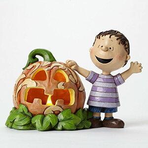 """エネスコ ジム ショア ピーナッツ ライナス アンド グレート パンプキン ライナスとでっかいかぼちゃ 5 インチ Peanuts Linus and the Great Pumpkin Figurine, 5"""" 【 置物 キャラクター 人形 プレゼント ク"""