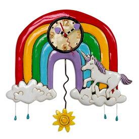 【即納】 虹 ユニコーン アレン デザイン 振り子時計 Allen Designs Rainbows & Unicorns Clock 掛け時計 P1806 ミシェルアレン ミシェル・アレン アレン・デザイン ALLEN DESIGNS 時計 sokunou 送料無料 【並行輸入品】