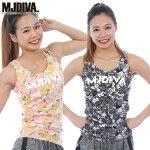 MJDIVA◆Flower総柄カップ付タンクトップ