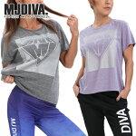 MJDIVA◆ラメBIGロゴTシャツ