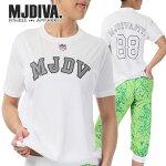 MJDIVA◆カジ系ユニフォーム風TシャツWH