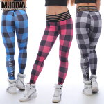 MJDIVA◆PlaidPrintingScrunchストレッチレギンス