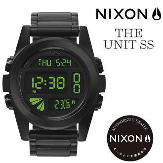 NIXON WATCH[尼克鬆表]Unit SS[AllBlack/Green]360032