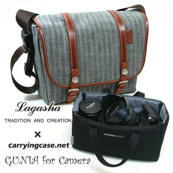 当店×ラガシャのコラボバッグラガシャ(LAGASHA) +Carryingcase.net #9327 メッセンジャーバッグ GUNIA[グニア] for Camera (インナーバッグインナー(M)#061776 付属モデル) 【あす楽対応】【ギフト】【プレゼント】【送料無料】