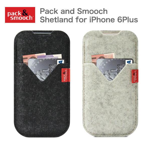 パック アンド スムーチ アイフォン6s Plus/7Plus ケース シェトランド ドイツ製 ハンドメイド Pack and Smooch Shetland for iPhone 6Plus 【ゆうパケット対応商品】【フェルト】【ウール】【ギフト】【プレゼント】【あす楽対応】