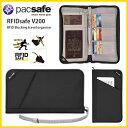 【ポイント10倍! 11/27 09:59まで】 Pacsafe 17 RFIDセーフ V200 Black スキミング防止 パスポートケース 貴重品ケー…