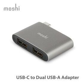 【ポイント10倍】moshi USB-C to Dual USB-A Adapter (Titanium Gray) USB 3.1 Gen1 ポート x 2 USB-A対応 【あす楽対応】