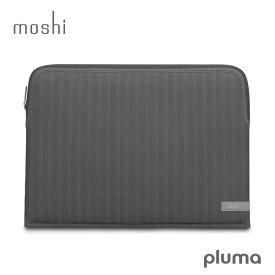 【ポイント10倍! 4 19 09:59まで】 モシ プルマ ラップトップスリーブ ケース moshi Pluma for MacBook Pro 13 Late 2016 / Mid 2017 2018 2019 2020 ヘリンボーン グレー 送料無料 防水コーティング 【あす楽対応】