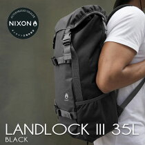 ニクソンランドロックオールブラックメンズレディースリュックNIXONLANDLOCKIII35L黒BLACKデイパック通学通勤C3076