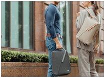 ビジネスカジュアル両対応クロスボディバックパックブリーフケース3WAYmoshiMuto通勤通学ギフトバッグ